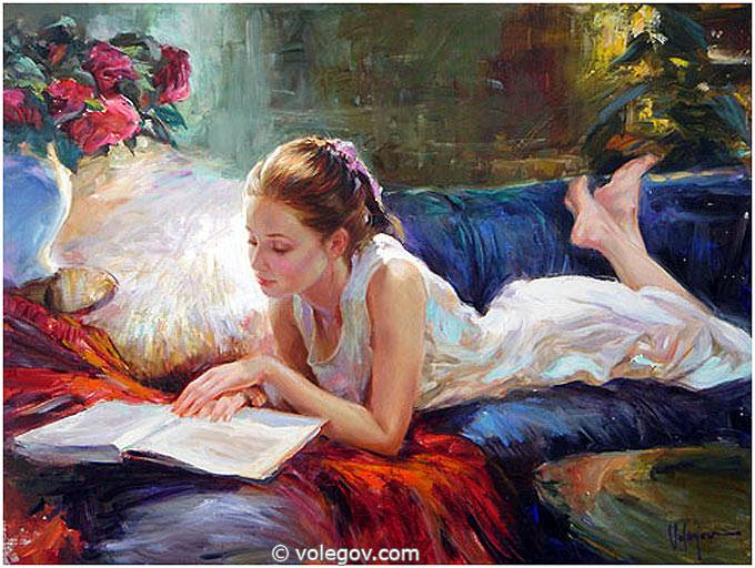 Sensitive images: Women by a Russian painter Vladimir Volegov - 13