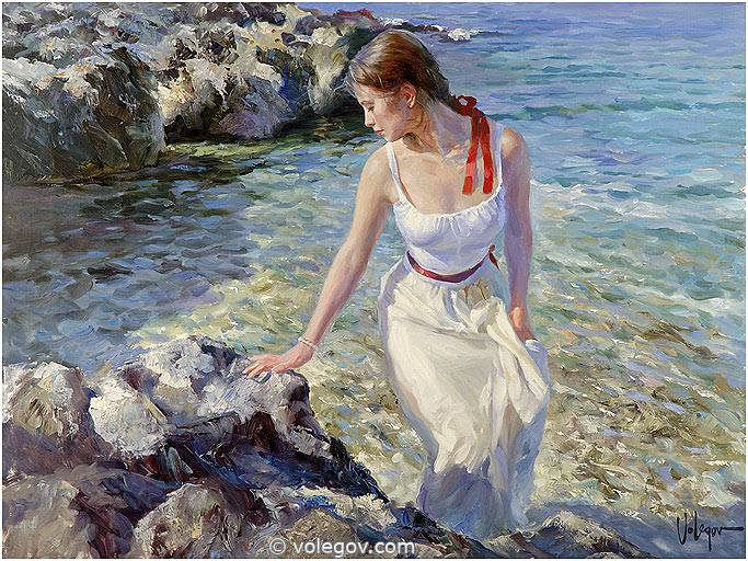 Sensitive images: Women by a Russian painter Vladimir Volegov - 14