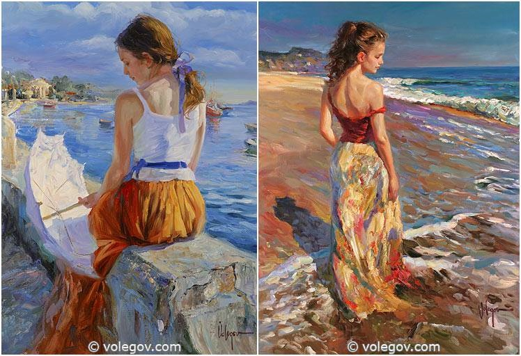 Sensitive images: Women by a Russian painter Vladimir Volegov - 15