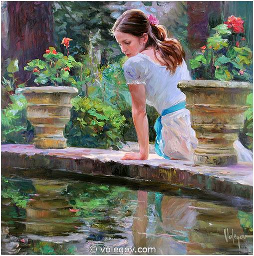 Sensitive images: Women by a Russian painter Vladimir Volegov - 16