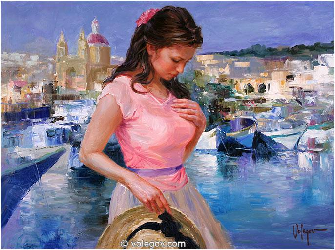 Sensitive images: Women by a Russian painter Vladimir Volegov - 18