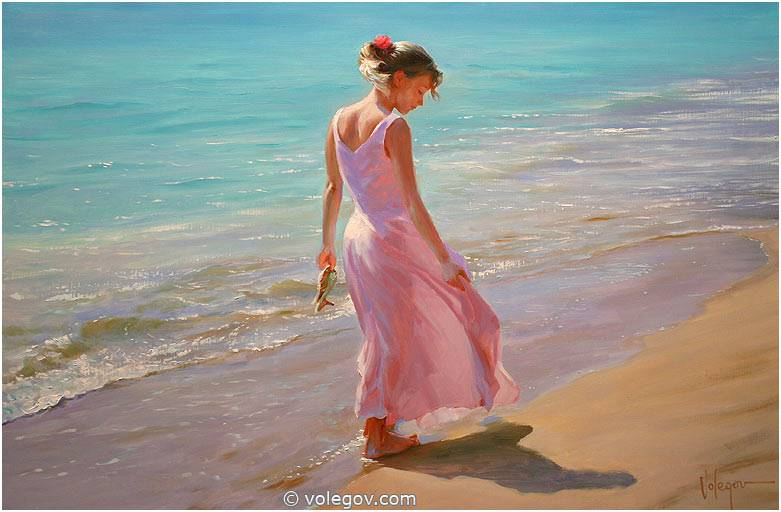 Sensitive images: Women by a Russian painter Vladimir Volegov - 02