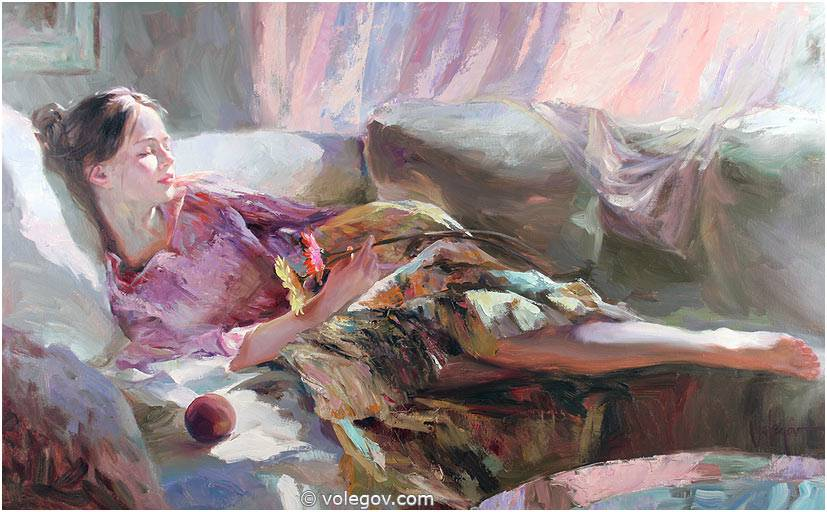 Sensitive images: Women by a Russian painter Vladimir Volegov - 20