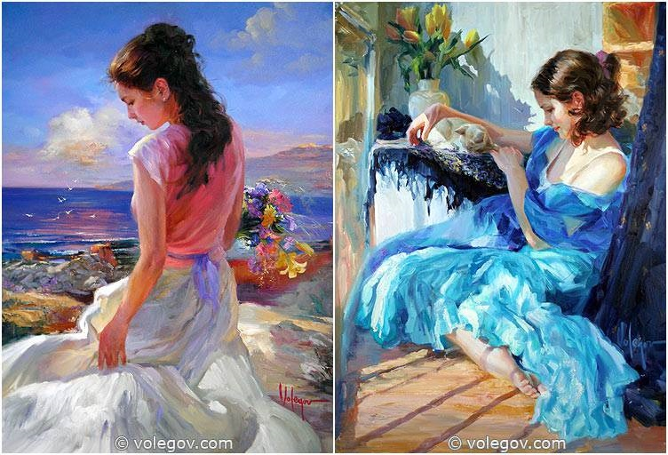 Sensitive images: Women by a Russian painter Vladimir Volegov - 23