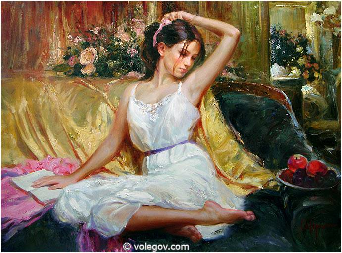 Sensitive images: Women by a Russian painter Vladimir Volegov - 24
