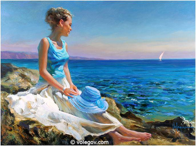 Sensitive images: Women by a Russian painter Vladimir Volegov - 26