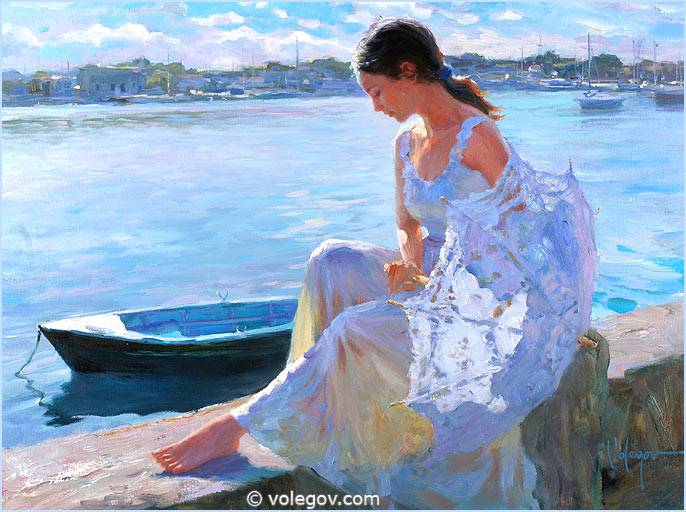 Sensitive images: Women by a Russian painter Vladimir Volegov - 27