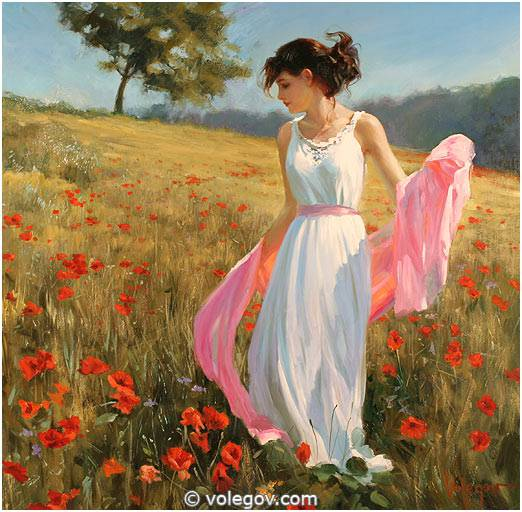 Sensitive images: Women by a Russian painter Vladimir Volegov - 03
