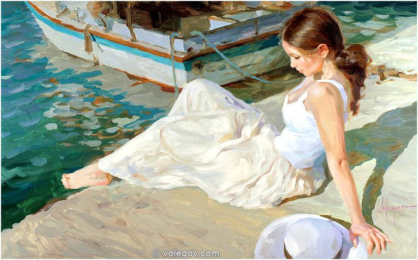Sensitive images: Women by a Russian painter Vladimir Volegov - 31