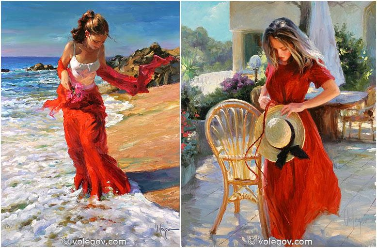 Sensitive images: Women by a Russian painter Vladimir Volegov - 33