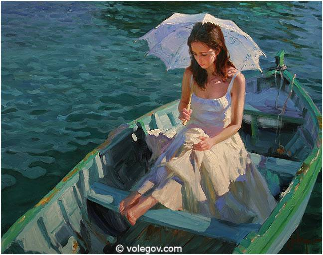 Sensitive images: Women by a Russian painter Vladimir Volegov - 34