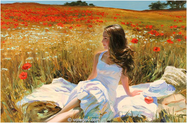 Sensitive images: Women by a Russian painter Vladimir Volegov - 35