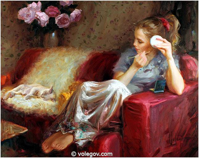 Sensitive images: Women by a Russian painter Vladimir Volegov - 37