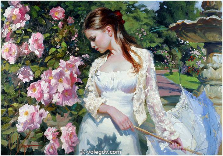 Sensitive images: Women by a Russian painter Vladimir Volegov - 38