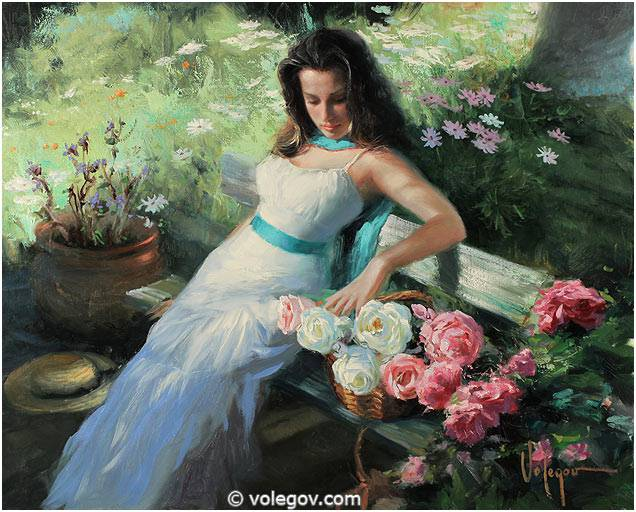 Sensitive images: Women by a Russian painter Vladimir Volegov - 39