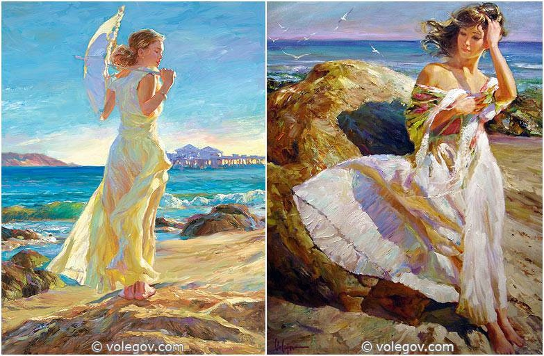 Sensitive images: Women by a Russian painter Vladimir Volegov - 04