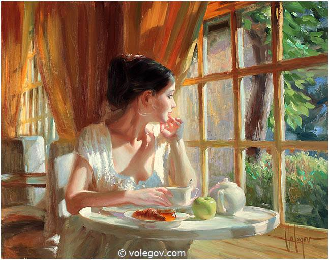 Sensitive images: Women by a Russian painter Vladimir Volegov - 40