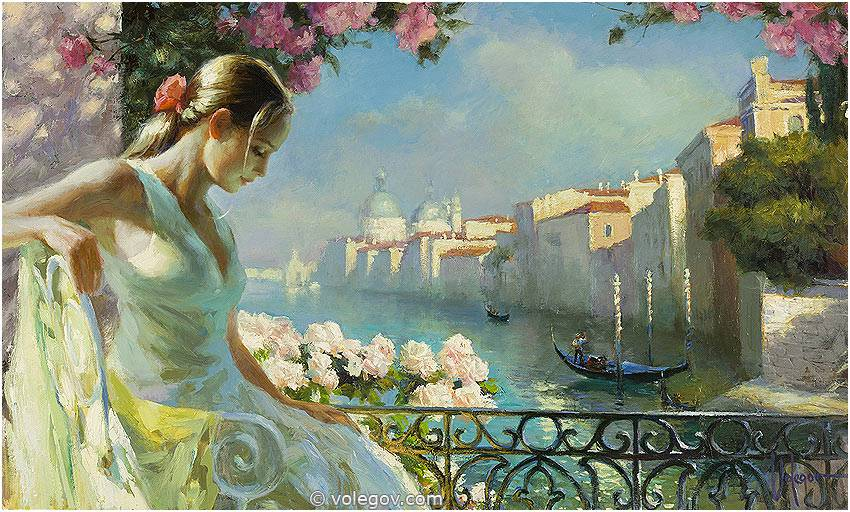 Sensitive images: Women by a Russian painter Vladimir Volegov - 41