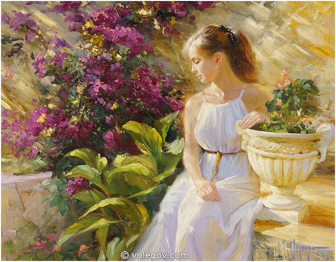 Sensitive images: Women by a Russian painter Vladimir Volegov - 42