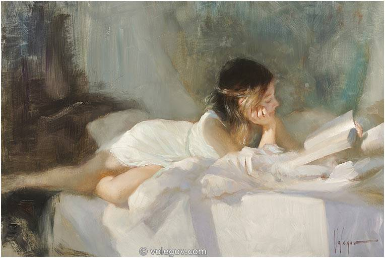 Sensitive images: Women by a Russian painter Vladimir Volegov - 43