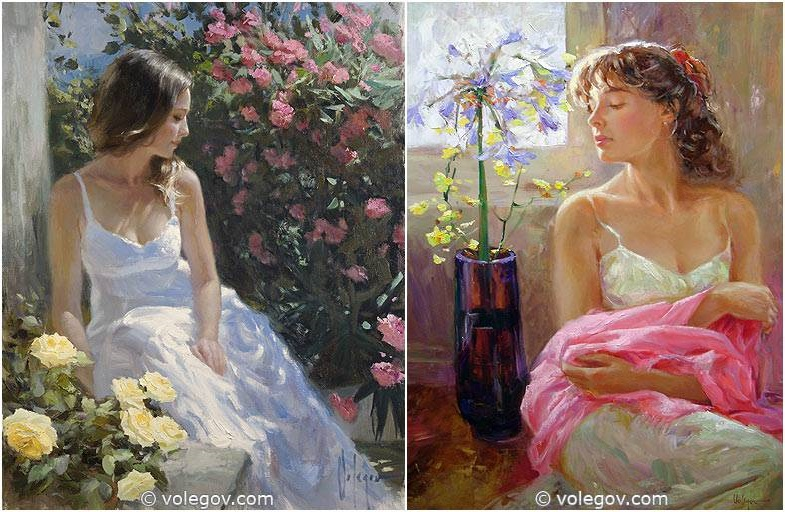 Sensitive images: Women by a Russian painter Vladimir Volegov - 44
