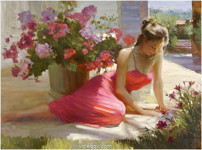 Sensitive images: Women by a Russian painter Vladimir Volegov - 46
