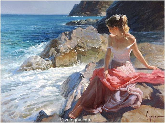 Sensitive images: Women by a Russian painter Vladimir Volegov - 50