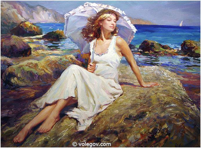 Sensitive images: Women by a Russian painter Vladimir Volegov - 06