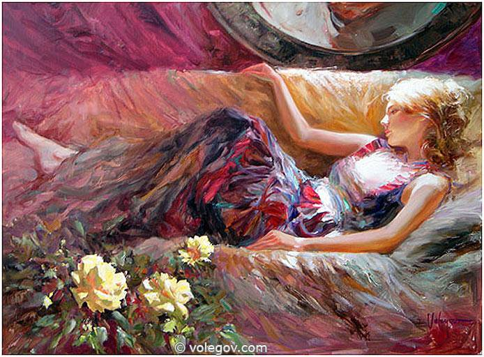 Sensitive images: Women by a Russian painter Vladimir Volegov - 07