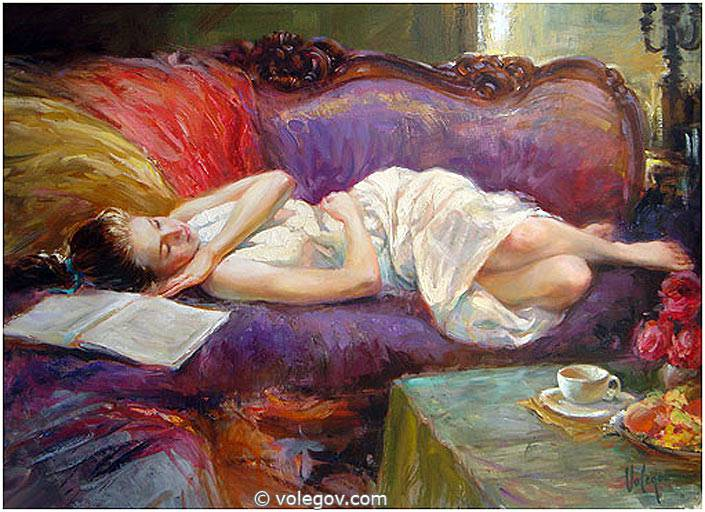Sensitive images: Women by a Russian painter Vladimir Volegov - 08