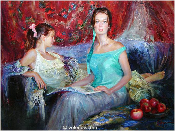 Sensitive images: Women by a Russian painter Vladimir Volegov - 09