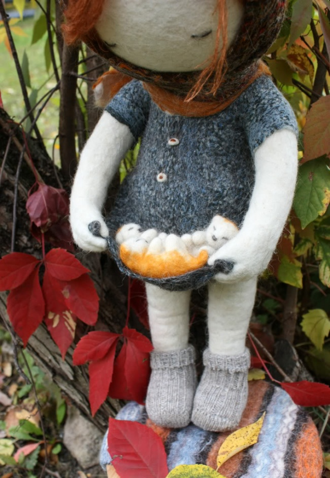 Soulful art: Magnificent hand-made felt dolls by Irina Andreyeva - 27