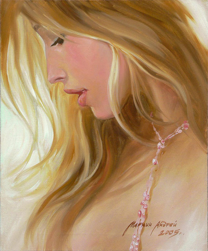 Women's portraits: Pictures by a Russian painter Andrei Markin - 12