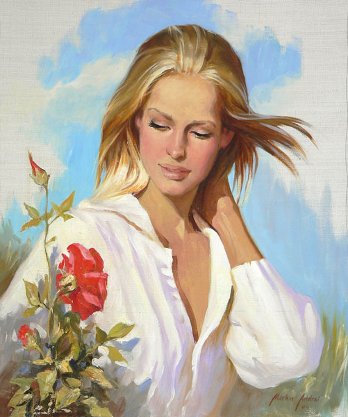 Women's portraits: Pictures by a Russian painter Andrei Markin - 23