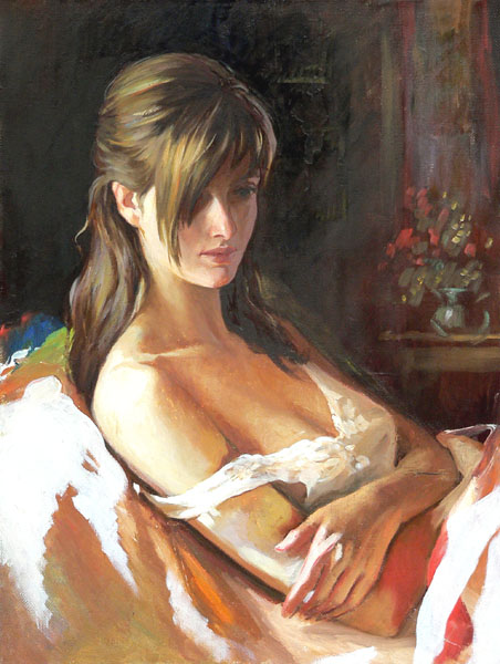 Women's portraits: Pictures by a Russian painter Andrei Markin - 25