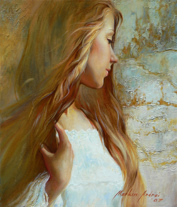 Women's portraits: Pictures by a Russian painter Andrei Markin - 06