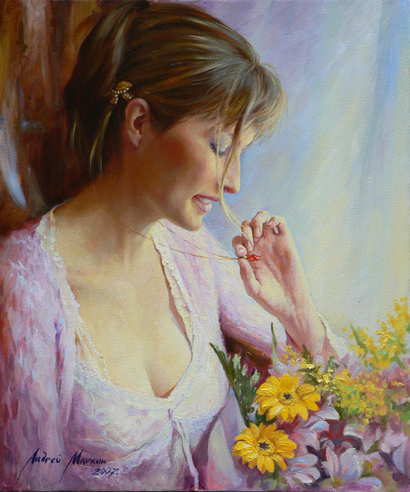 Women's portraits: Pictures by a Russian painter Andrei Markin - 07