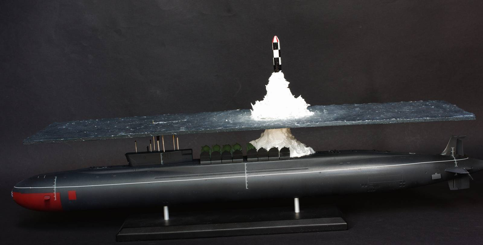Great scale model of Russian submarine Yury Dolgorukiy (K-535) - 26