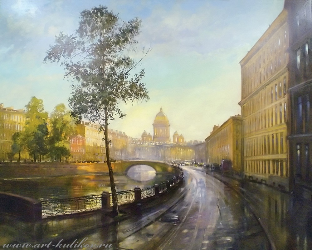 Pictures of glorious Saint-Petersburg by an artist Vladimir Kulikov - 01