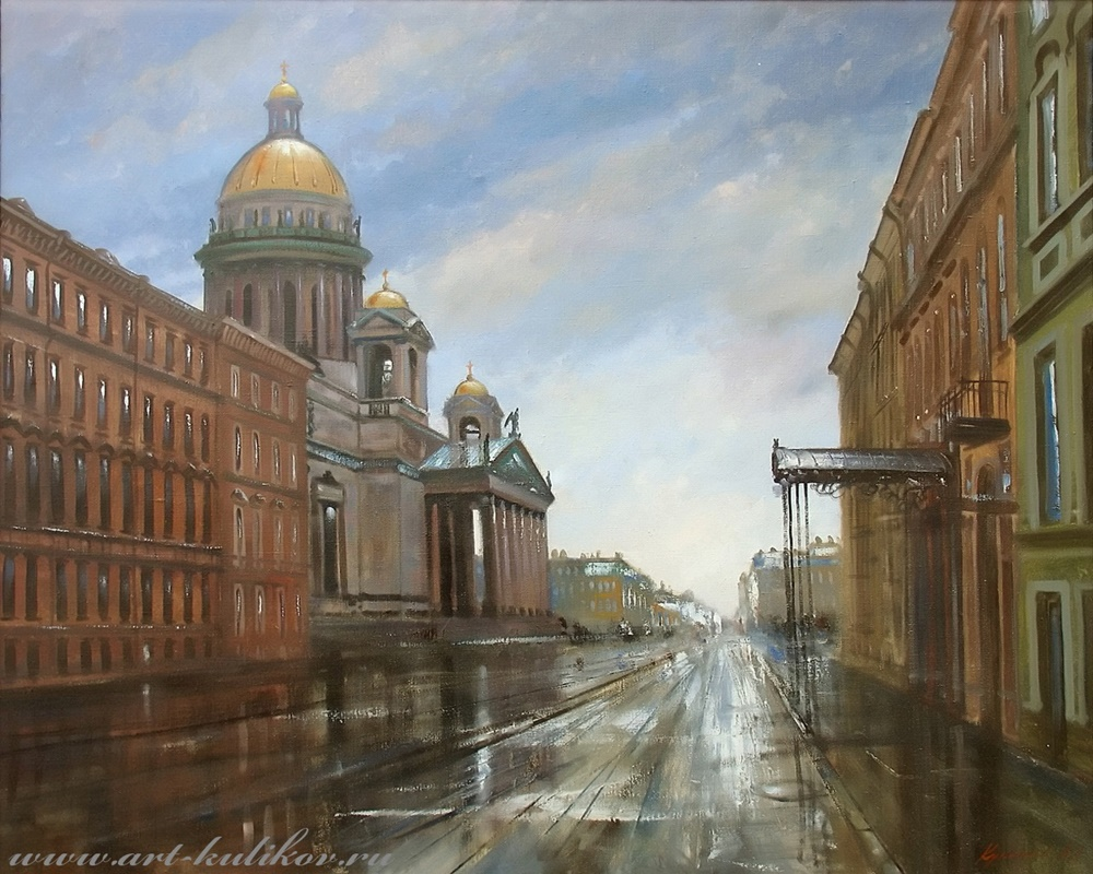 Pictures of glorious Saint-Petersburg by an artist Vladimir Kulikov - 10