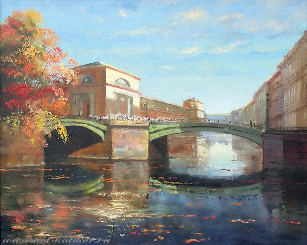 Pictures of glorious Saint-Petersburg by an artist Vladimir Kulikov - 11