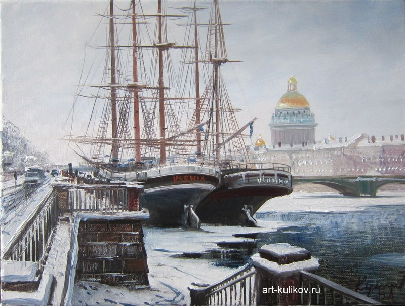 Pictures of glorious Saint-Petersburg by an artist Vladimir Kulikov - 12