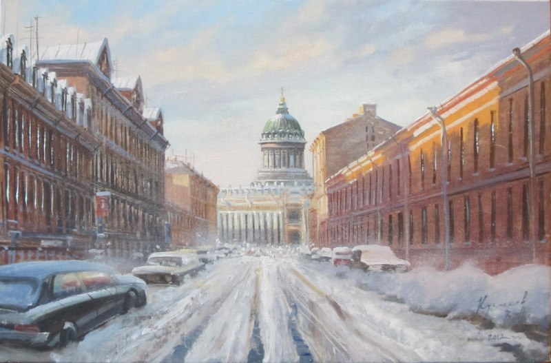 Pictures of glorious Saint-Petersburg by an artist Vladimir Kulikov - 14