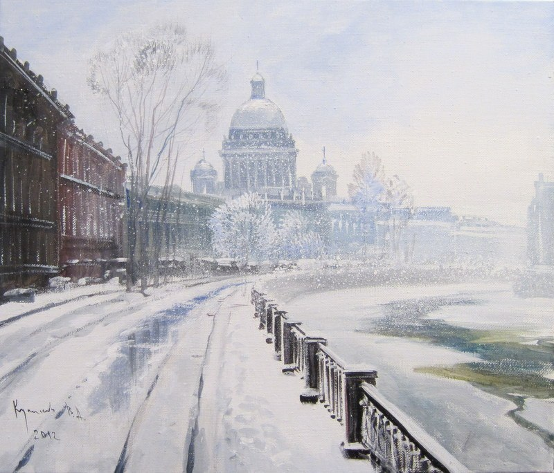 Pictures of glorious Saint-Petersburg by an artist Vladimir Kulikov - 15
