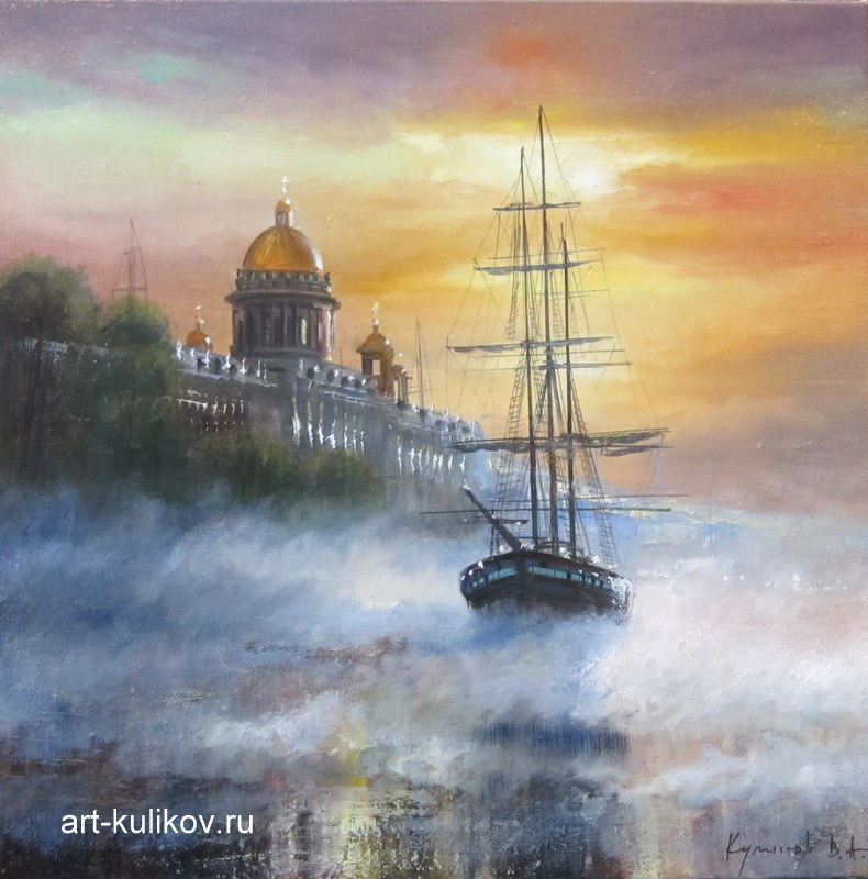 Pictures of glorious Saint-Petersburg by an artist Vladimir Kulikov - 17
