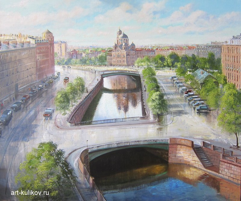 Pictures of glorious Saint-Petersburg by an artist Vladimir Kulikov - 18