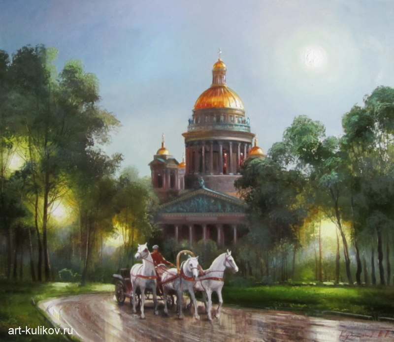 Pictures of glorious Saint-Petersburg by an artist Vladimir Kulikov - 20