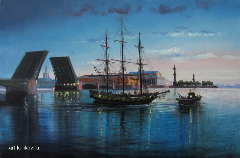 Pictures of glorious Saint-Petersburg by an artist Vladimir Kulikov - 21