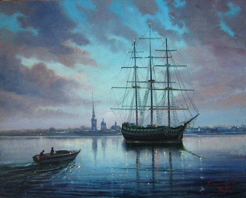Pictures of glorious Saint-Petersburg by an artist Vladimir Kulikov - 22