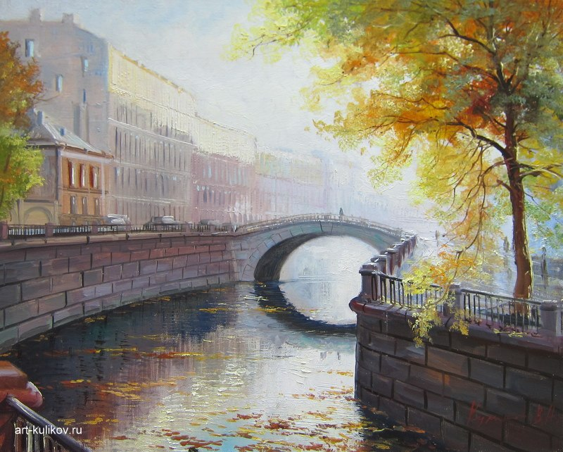Pictures of glorious Saint-Petersburg by an artist Vladimir Kulikov - 23